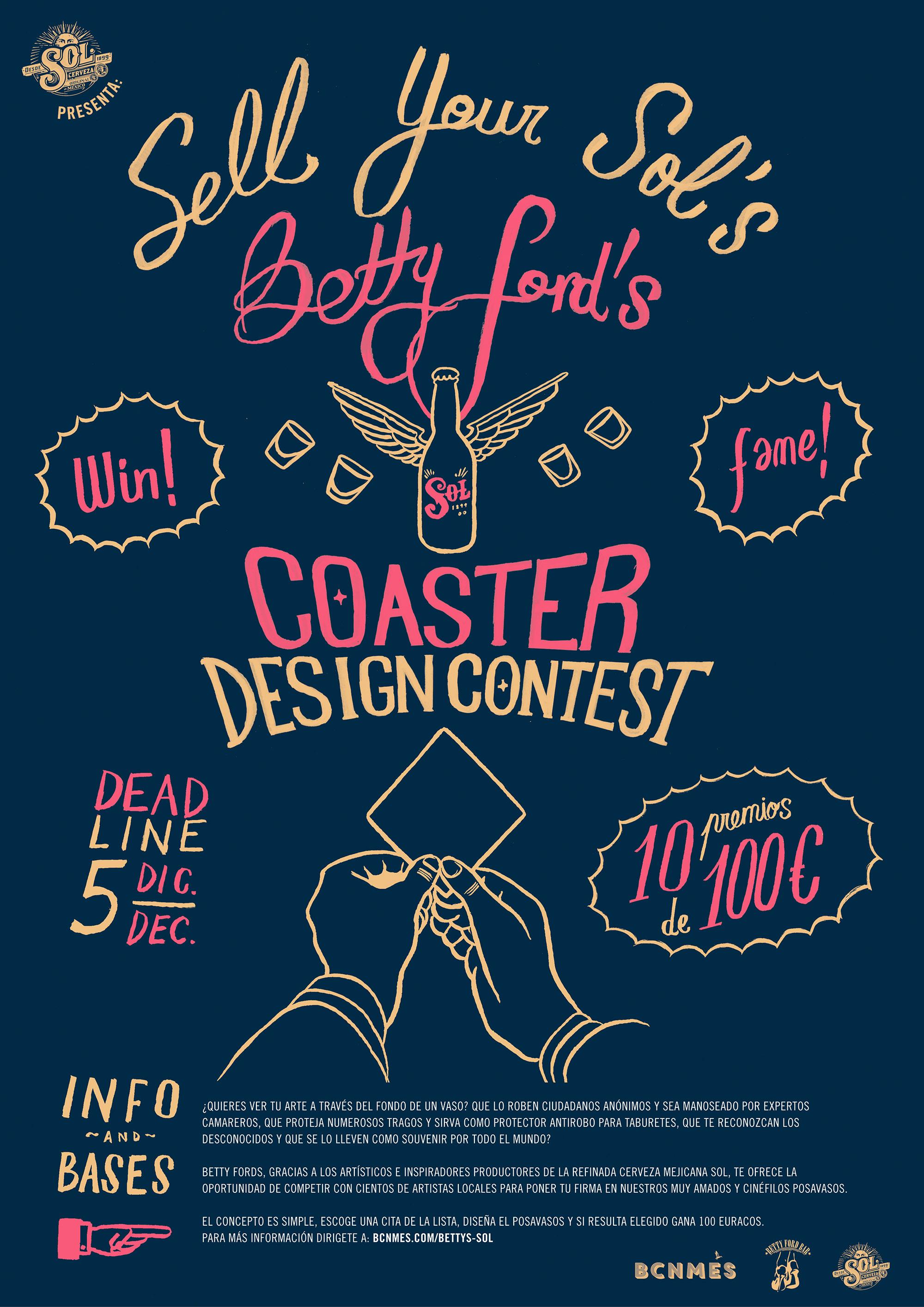 Posetr Betty Coasters